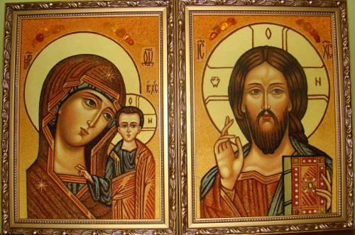 Венчальные иконы, 20 на 30 см.